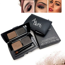 Dropship 2 Color Eyebrow Powder Palette Waterproof Not Blooming Easy To Color 24 Hours Lasting