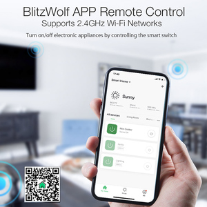 Image 4 - BlitzWolf BW SS1 Smart Home APP Control Timer Module Socket 3300W 15A Basic DIY WIFI Wireless Switch Work with Google Home IFTTT