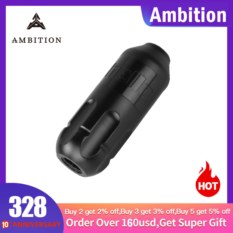 Ambition Tattoo Pen Machine Swiss Engine Rca Connector Powerful Motor Permanent Makeup Tools Pen Tattoo Eyebrow Lips Wand Bishop