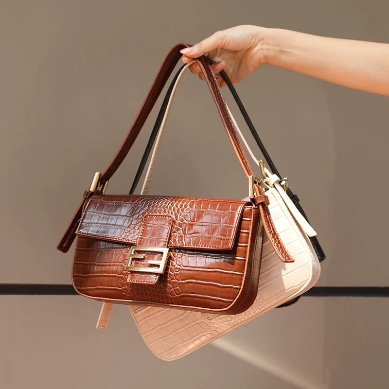 2019 New Luxury Handbags Women Bags Designer Alligator High Quality Female Shoulder Bags Fashion Leather Purses and Handbags