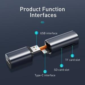 Image 3 - Baseus 2 in 1 Kartenleser USB 3,0 Typ C zu SD Micro SD TF Adapter für PC Laptop OTG kartenleser Smart Memory Microsd Kartenleser
