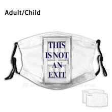 Este não é um filtro lavável de impressão máscara de saída boca engraçada bret ellis bateman bateman livros de terror livro citações