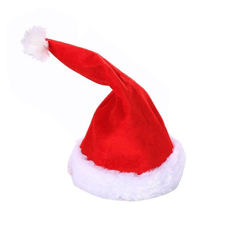 Adult Kids Musical Electric Christmas Hat Singing Dacning Swing Santa Claus Cap