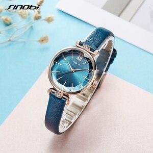 Image 4 - SINOBI montre genève pour femmes, bracelet de styliste, marque de luxe, diamant, Quartz, or, cadeaux pour dames