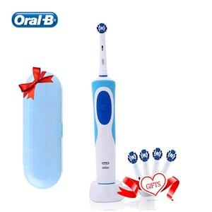 Image 2 - Oral B elektryczna szczotka do zębów wybielić zęby akumulator wodoodporna szczoteczka do zębów miękka szczotka głowy wybielić zęby z prezentem