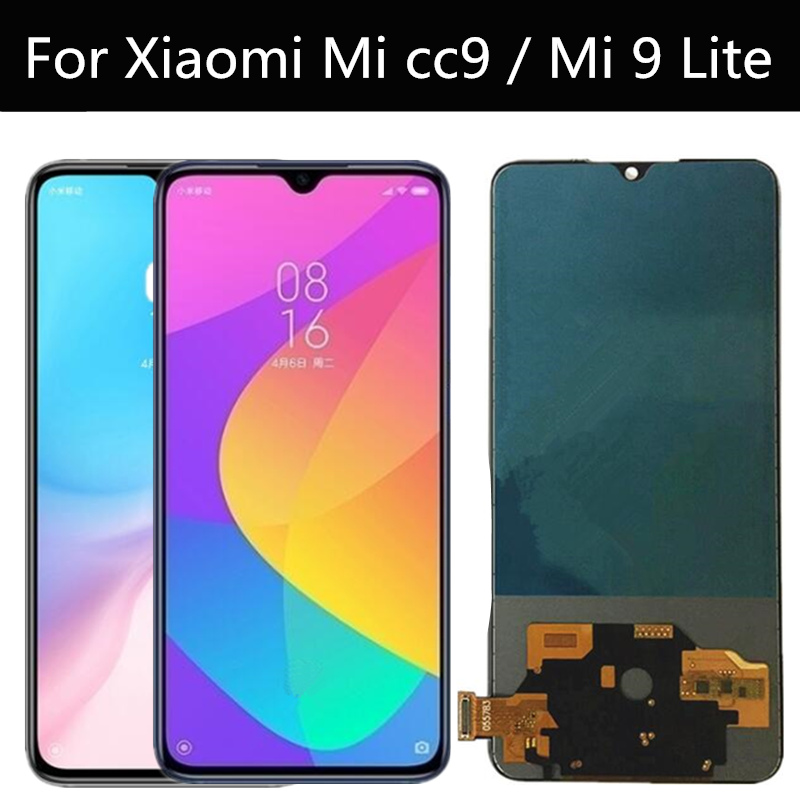 TFT LCD FOR XIAOMI Mi Cc9  / MI 9 LITE LCD Display Touch Screen Digitizer Assembly Replacement FOR XIAOMI MI9 LITE M1904F3BG LCD