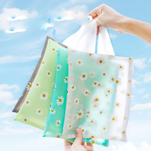 Fresh Big Capacity Daisy File Folder Cute Transparent Document bags Organizer Holder Storage Bag School Office supply Stationery