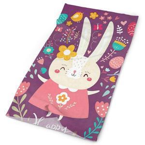 Pałąk wesołych świąt wielkanocnych jaja śliczny królik kwiatowe kwiaty szalik szalik ocieplacz na szyję chusta na głowę opaska sportowe nakrycia głowy