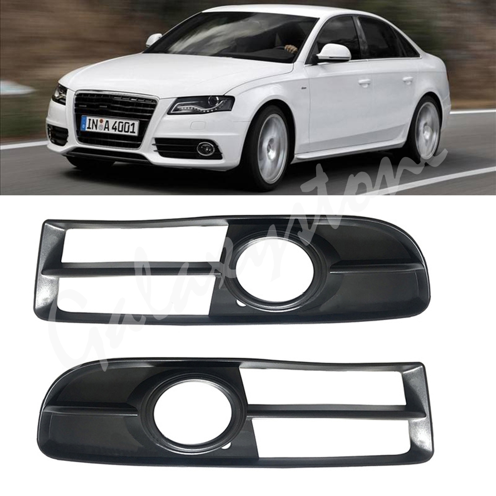 Front Bumper Fog Light Cover Foglamp Honeycomb <font><b>Grilles</b></font> Frame For <font><b>Audi</b></font> <font><b>A4</b></font> <font><b>B7</b></font> 2005 2006 2007 2008 8E0 807 681F / 8E0 807 682F image