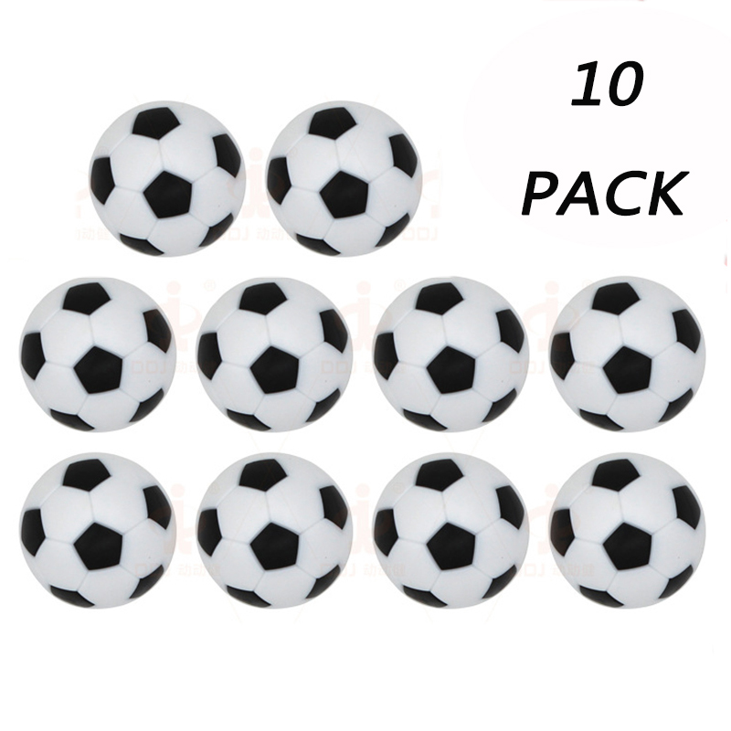 10pcs/lot Table Football Soccer Ball Plastic Black And White Soccer Balls Tabletop Game Soccer Accessories Birthday Party Decor