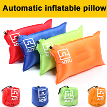 цена на Portable Outdoor Inflatable Camping Pillow Ultralight Travel Pillows With Pocket Portable Inflation Cushion Soft Pillow D35