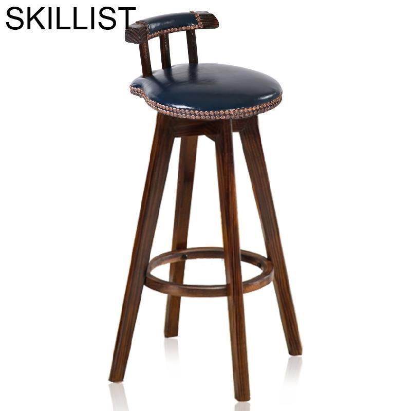 Cadir Sandalyeler Table Stuhl Industriel Stoelen Bancos Moderno Stoel Ikayaa Leather Cadeira Tabouret De Moderne Silla Bar Chair