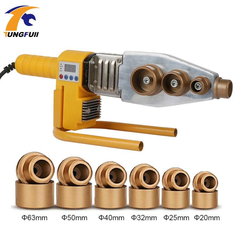 1 Set 220V 800W Φ20-63mm Plastic Pipe Welder PPR Welding Machine Water Pipe Welder For Heating PPR  Digital Display
