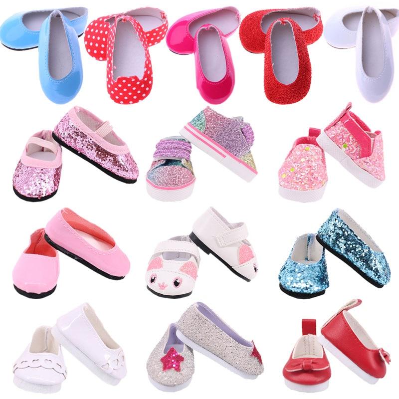 5cm sapatos de boneca botas lona sapatos de balé para 14.5 Polegada nancy american doll & bjd exo boneca & 32-34cm paola reina boneca rússia menina brinquedo