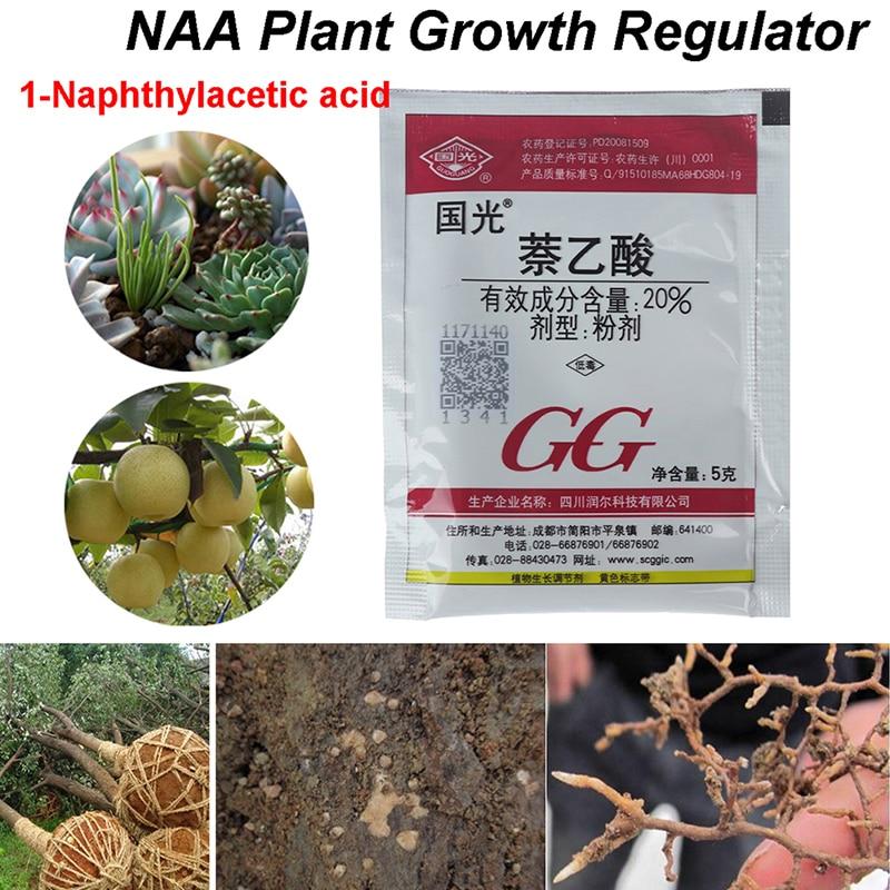 new 1-naphthylacetic acid Regulator Promote Plant Growth Recovery Germination Vigor Aid Fertilizer Hormone Bonsai Garden
