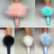 B004-destacável ímã bola fluffy encantos do prego 3d 6 cores puffy pom moda jóias manicure unhas diy acessórios conjunto de cinco