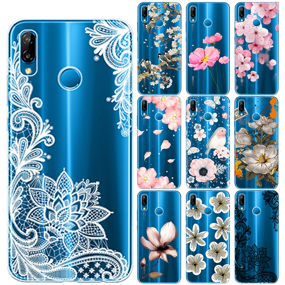 Sexy Retro Floral TPU <font><b>Case</b></font> Cover For <font><b>Huawei</b></font> P10 P20 P30 Lite Pro P8 Lite 2017 Nova 5 5I 4 3I 3 <font><b>Y5</b></font> Y9 <font><b>2018</b></font> 2019 Lace Flower <font><b>Cases</b></font> image