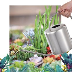 Waterings Spray Can 1.5L Golden Brass Watering Can Home Gardening Durable Long Mouth Watering Pot Kettle Metal Garden Decors