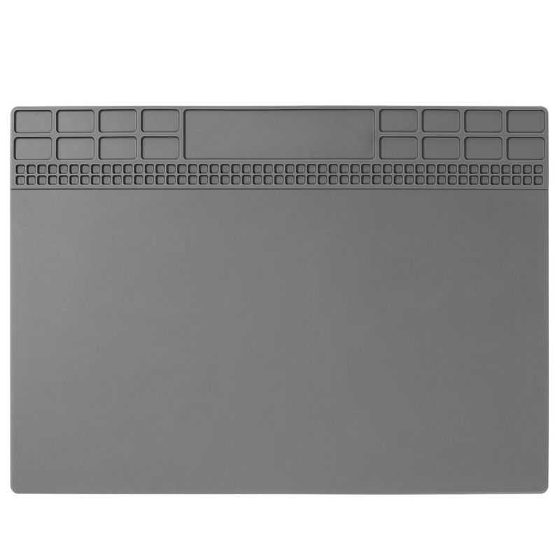 ABSF 350x250mm 1pc Heat Insulation Silicone Pad Desk Mat For Electrical Soldering Repair Station Maintenance Platform