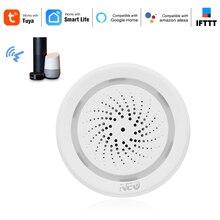 Sensor de sirena inalámbrico con WiFi, alarma de humedad y temperatura, sirenas smart tuya con asistente de Google en Amazon IFTTT