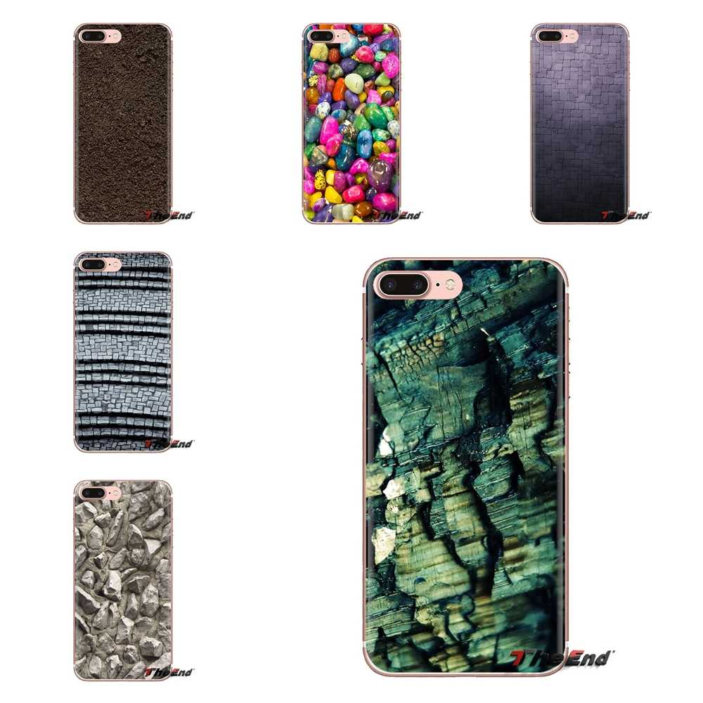 Dla LG duch Motorola Moto X4 E4 E5 G5 G5S G6 Z Z2 Z3 G2 G3 C grać Plus Mini tekstury kamień przezroczyste miękkie przypadki okładki