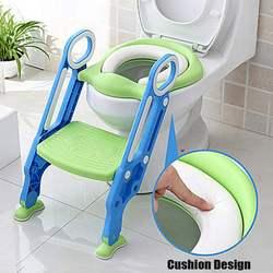 Vouwen Kinderpotje Zuigeling Kids Wc Training Seat Met Veilig Verstelbare Ladder Hoogte Draagbare Urinoir Potje Toilet Seat voor Kid