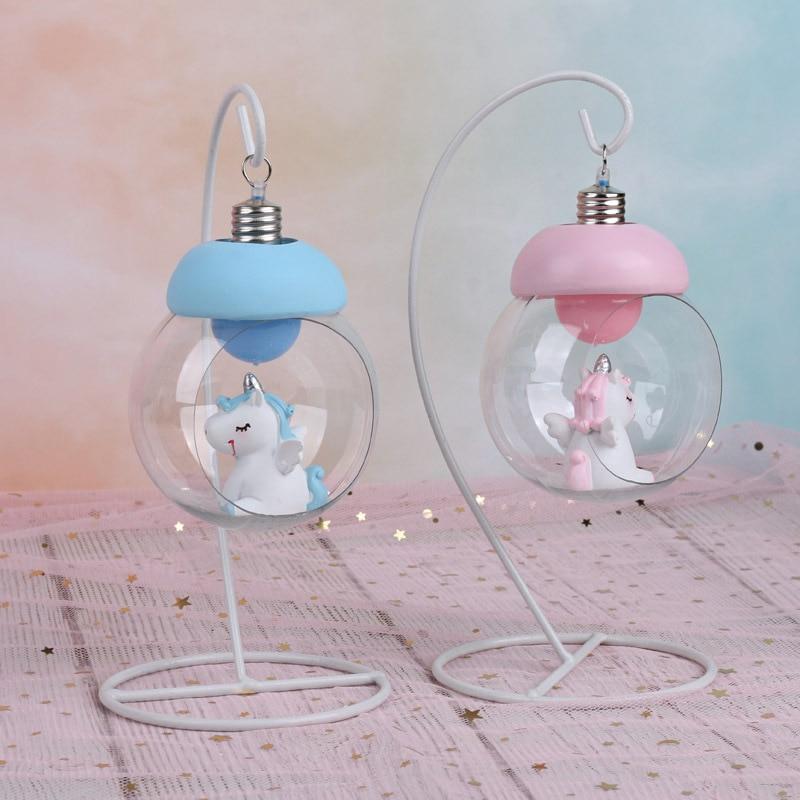 Resin Unicorn LED Novetly Lamp Glow In The Dark Pokemon Ball Novelty Lighting Magic Lamp Floating Globe Moonlight Night Light