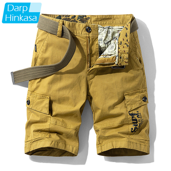 High-quality Summer New Casual Fashion Shorts Mens Loose Five-point Pants Overalls Cotton