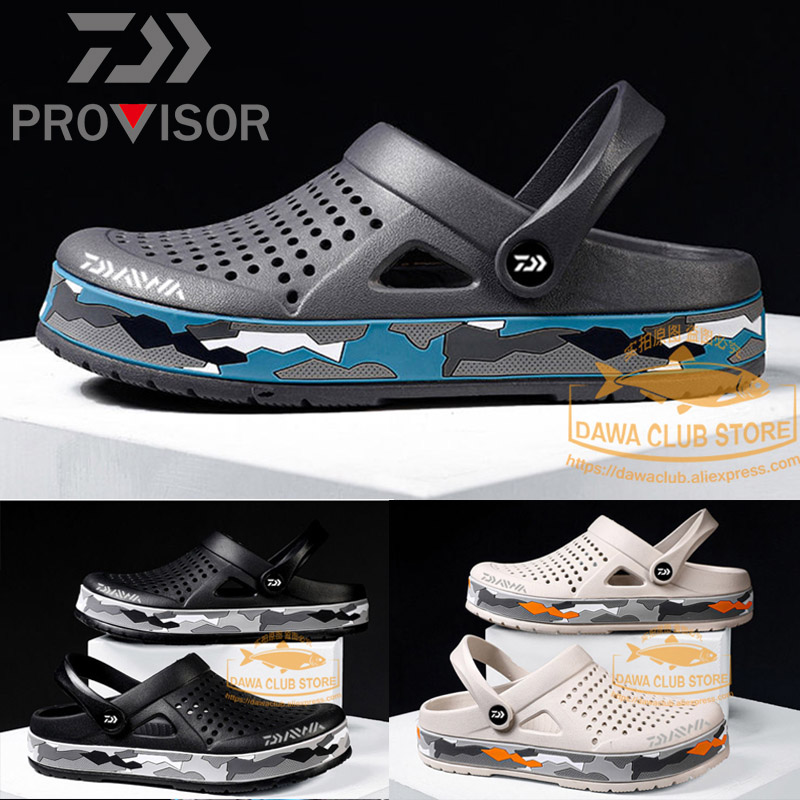 2020 DAWA Fishing Water Shoes Beach Sandals Camouflage Outdoor Shoes Light Weight Breathable Slipper Men Summer Soft Daiwa Shoes