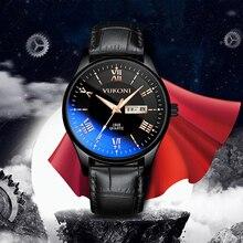 reloj hombre Men Watch Black Leather Fashion Casual Luxury Waterproof Men Sports Wrist Watch Quartz Wristwatch Relogio Masculino