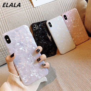Glossy Marble Case For iPhone 12 mini 11 Pro Max X XS XR 6s 7 8 Plus SE 2020 Bling Shell Epoxy Silicon Glitter Soft TPU Cover