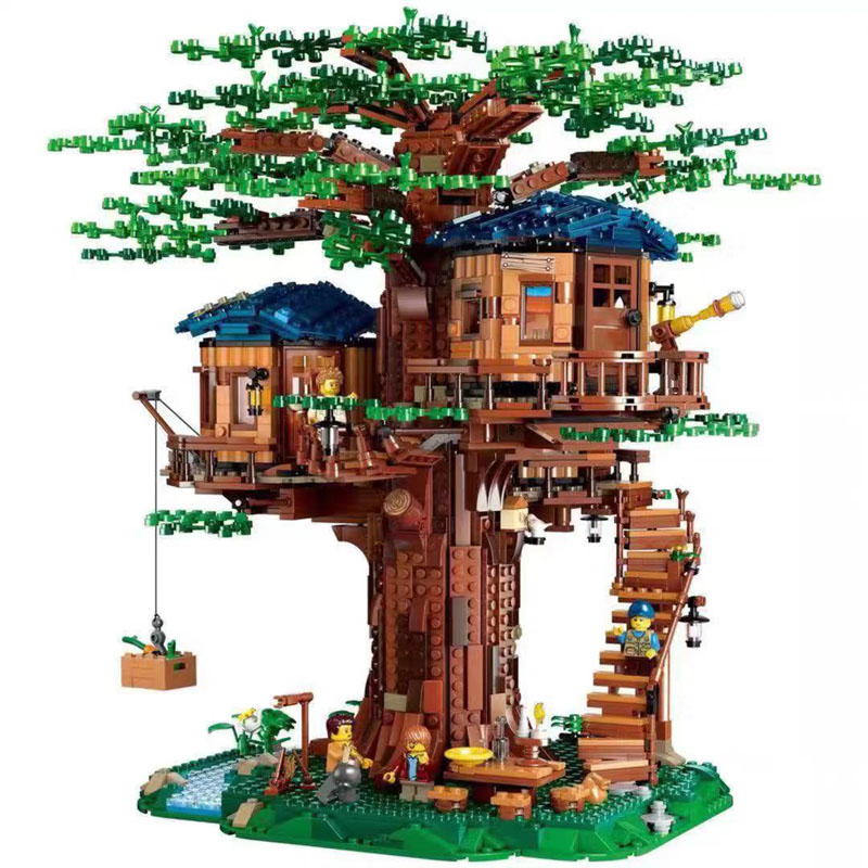 Ideas Series Tree House Set 3117PCS Leaves Of Two Colours Model Building Blocks Bricks Toys Compatible 21318 Chirstmas Gifts