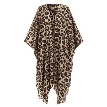 JAYCOSIN Vintage Kimono Cardigan Women Summer Tops Sexy Leopard Blouse Casual Loose Beach Cover Up Plus Size Blusas Femininas