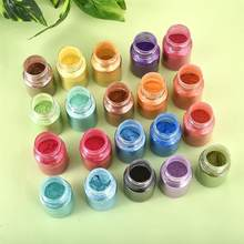 Wiele kolorów proszek Mica żywica epoksydowa barwnik perłowy Pigment naturalny mika puder mineralny mydło wyrabiane ręcznie proszek barwiący w butelce