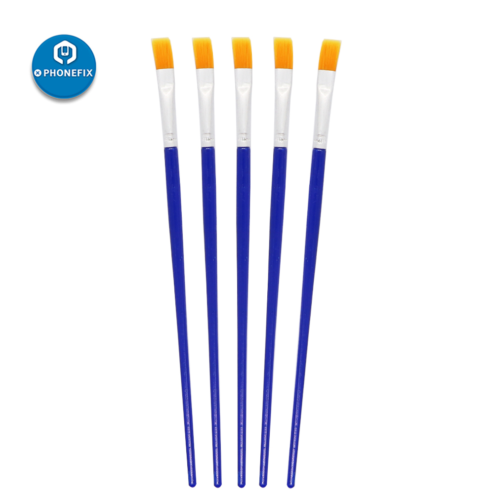 PHONEFIX 5Pcs BGA Cleaning Soft Brush Flux Paste Tool Motherboard Cleaning Tool Anti-static Brush For Mobile Phone Repair