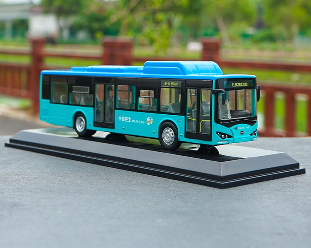 1/64 BYD K9 K8 12m Battery Electric Bus Blue Diecast Model Collection Toy Gift