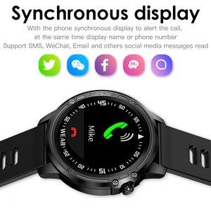 Image 3 - Reloj inteligente deportivo L8 L9 IP68 para hombre, resistente al agua, ECG presión arterial mediante PPG, control del ritmo cardíaco, para Android IOS