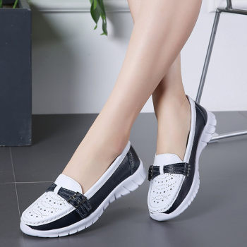 2020 Autumn Women Flats Mary Jane Leather Shoes Slip On Ballet Flats Ballerines Flats Woman Flat Loafers Walking Casual Shoes