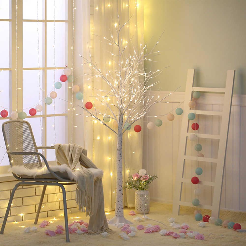 Led Silver Birch Tree Lamp Christmas Festival Modern