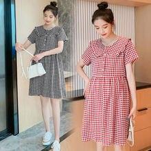 7018 #2021 летнее корейское японское модное платье для беременных
