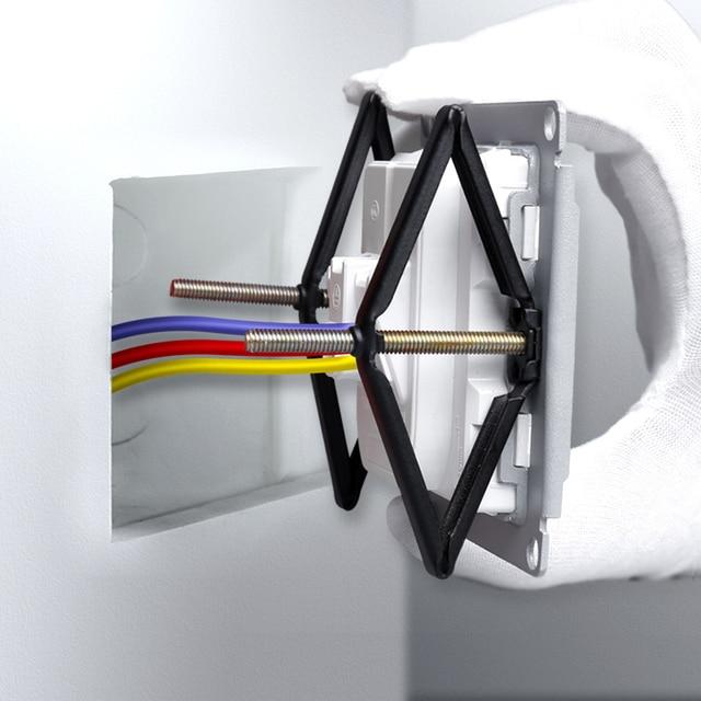 Bcsongben caja trasera de 86x86mm para reparación de casetes, soporte para reparación, accesorios para electricistas