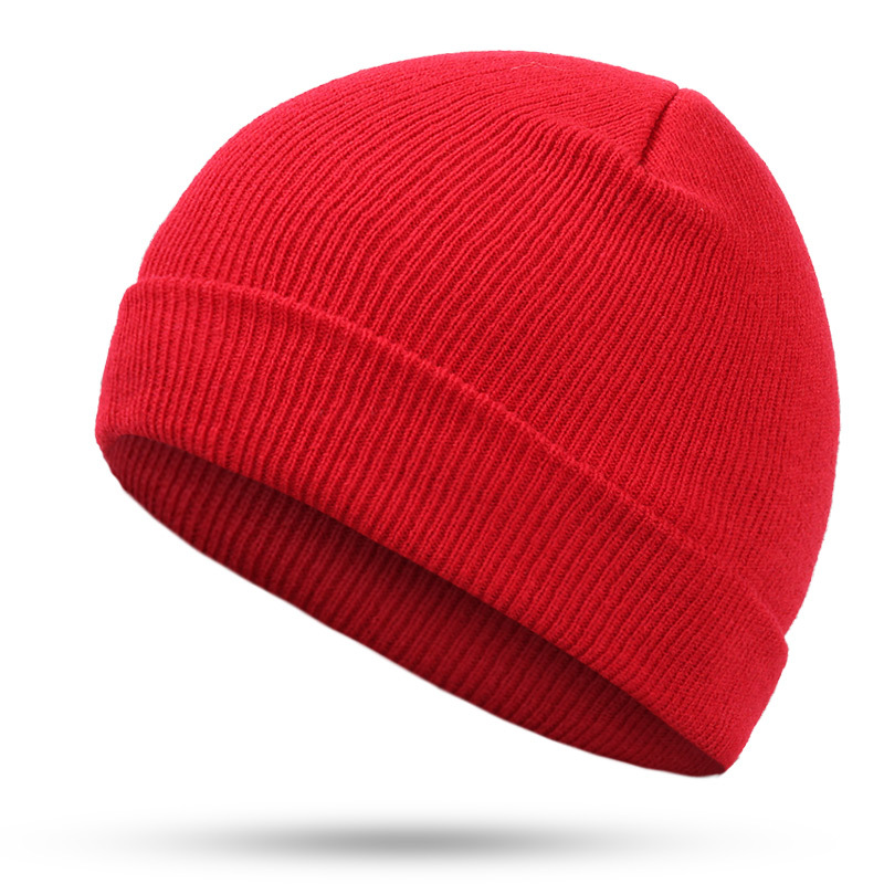 Hat Hip-Hop Hedging Cap Red Blue Black Orange Purple Stretch Knit Beanies Autumn Winter Hats For Man Woman Ski Cap Bonnet