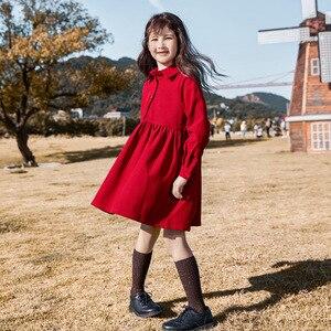 Image 1 - Robe dautomne pour filles, tenue de princesse tricotée, en coton, à col roulé, pour enfants, superbe collection 2020, #5673