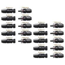Easun power painéis solares, 10 pares macho de conectores fêmea 30a 1000v para cabo pv 2.5/4/acessórios para cabo de 6mm