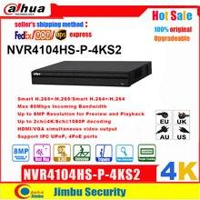 Dahua Grabadora de vídeo de red poe NVR P2P 4K, NVR4104HS P 4KS2, 4 canales, 4 puertos POE, H.265/H.264, hasta 8MP, para cámara IP