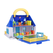 Girl suitcase doll house Childrens play toy Assembly set Toy Model Building Kits villa DIY Furniture Accessories