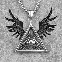 Collar triangular de acero inoxidable para hombre, cadena con colgante de ojo de Dios, hip hop Punk para novio, joyería masculina, regalo creativo, venta al por mayor