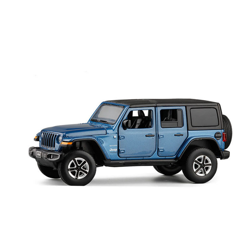 1/32 2020 Wrangler Simulation Toy Vehicles Model Alloy  Children Toys Genuine License Collection Gift Car Kids 6 Open Door