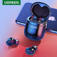 Ugreen Bluetooth słuchawki 5.0 TWS prawdziwe bezprzewodowe wkładki douszne słuchawki stereo dla Xiaomi zestaw głośnomówiący w słuchawka sportowy zestaw słuchawkowy do gier