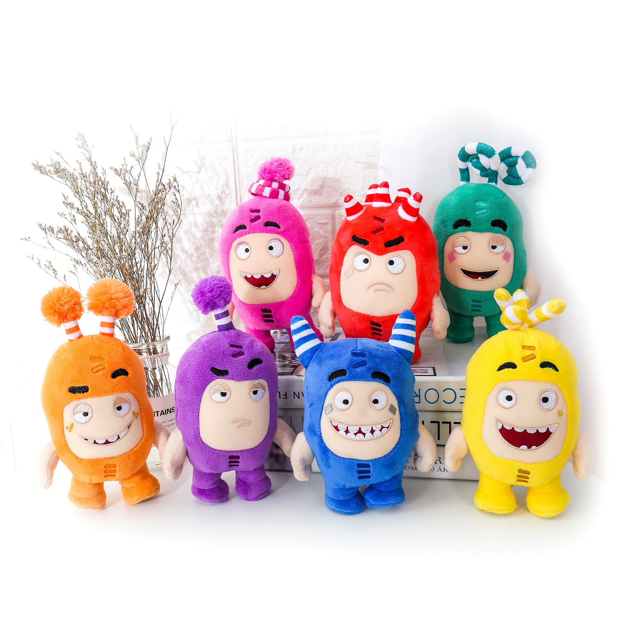 15-17CM 8 Style Oddbods Plush Toy Oddbods Monster Stuffed Dolls Treasure Of Soldiers Monster Doll Buuble Pogo Zee Birthday Gift